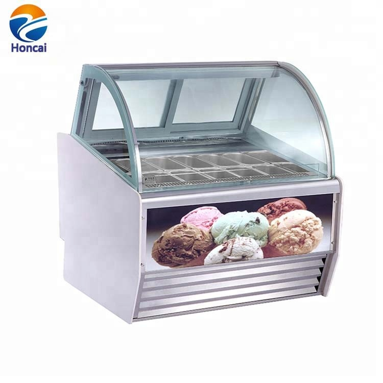 Kitchen Appliances Ice Cream Dipping Cabinet Ice Cream Display Showcase Deep Freezer Ce Certificate Home Appliances