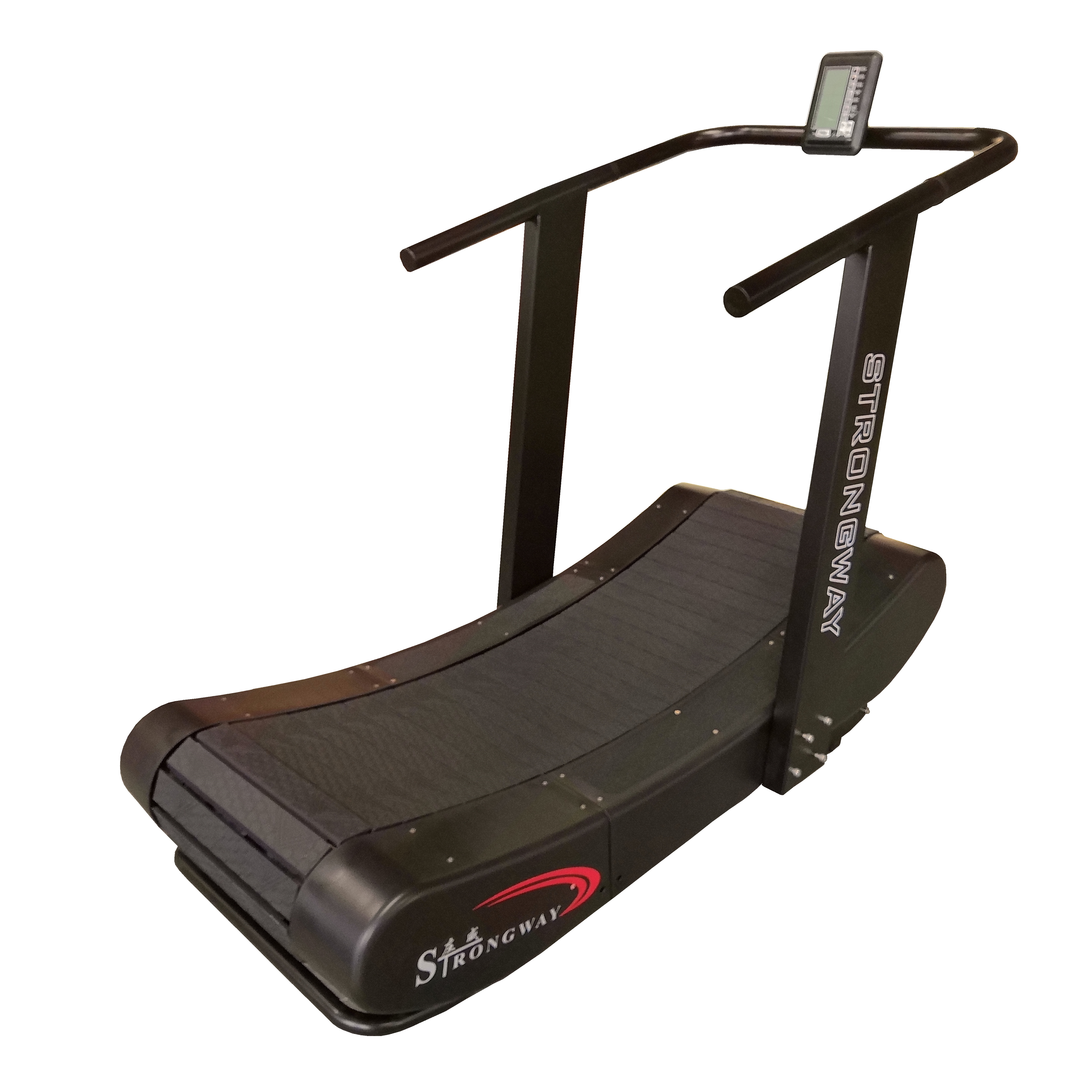 Fitness 220kg self-powered commercial gym equipment curved mechanical treadmill