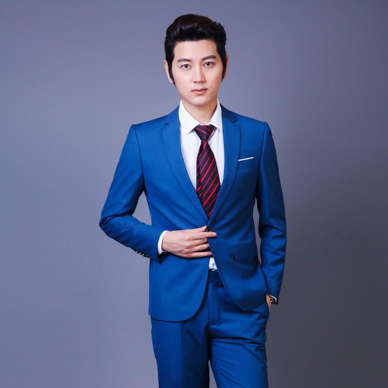 Plus Size Clothing Blue Coat Pant Designs Men Three Piece ...