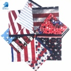 100% cotton custom national flag daily wear hair accessory multifunctional big square custom design bandana style headband