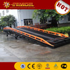 Low price portable container load unload bridge mobile yard ramp