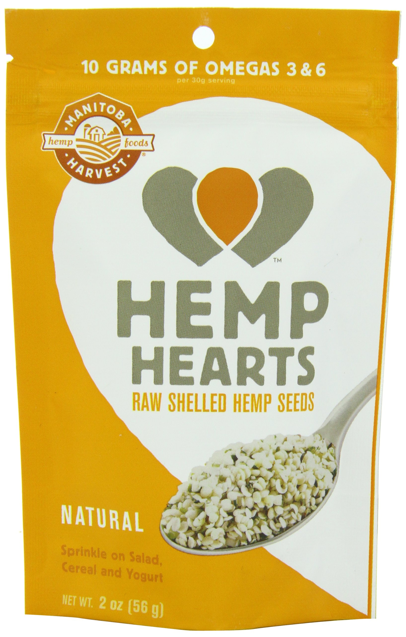 Manitoba Harvest Hemp Hearts Raw Shelled Hemp Seeds, 2oz (Pack of 12); with 10g Protein & Omegas per Serving, Non-GMO, Gluten Free