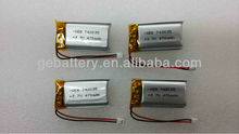 3.7v polymer li-ion battery cell/lipo battery for MP3