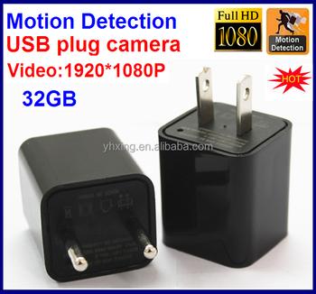 2017 Newest Motion Detection 32GB 1080P HD No Hole Spy Usb Plug Camerausb Charger