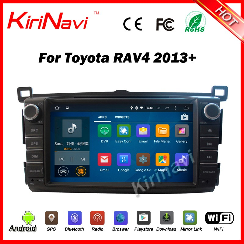 "Kirinavi WC-TR8017 android 5.1 8"" bluetooth <strong>car</strong> radio for <strong>toyota</strong> rav4 2013-2016 <strong>car</strong> navigation gps wifi 3g bt play store"