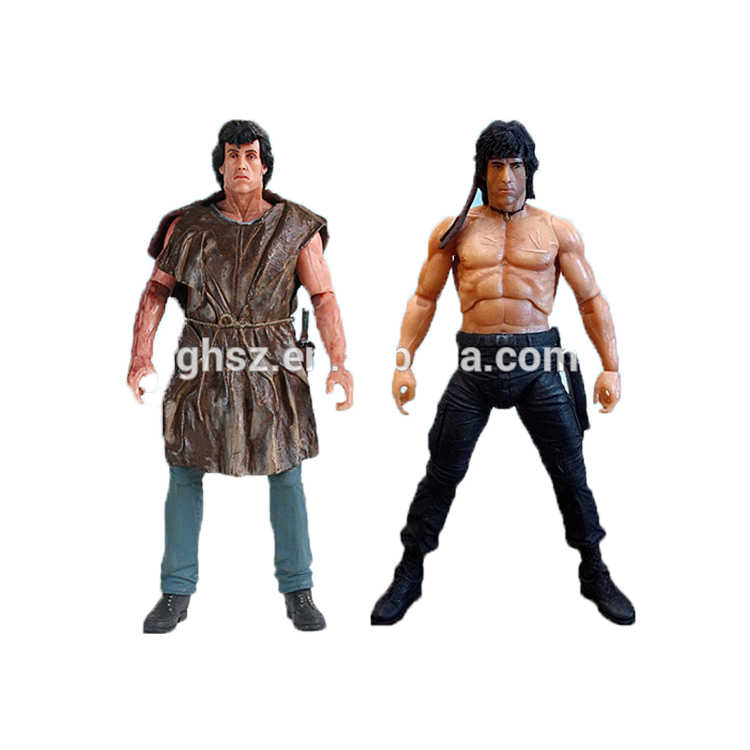 Figurine NECA personnage du film First Blood II personnage de l'action Rambo figure nue