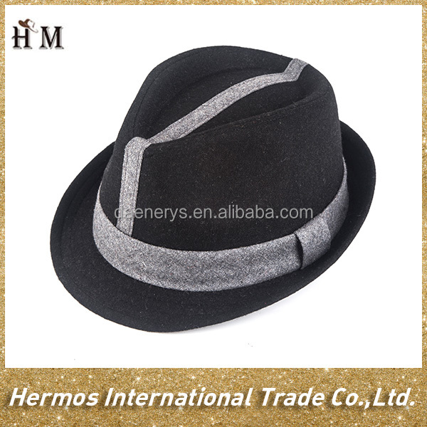 top quality 20% wool 80% polyester men fedora hat for man