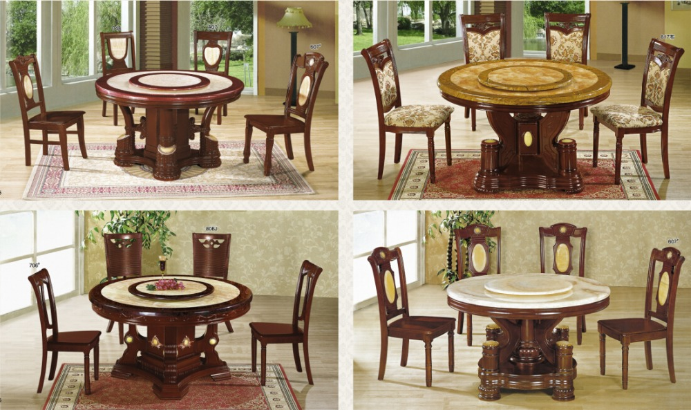 Italian Marble Dining Table Round Rotating Product On