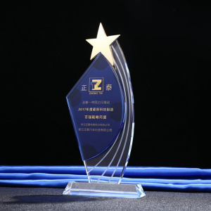 wholesale crystal trophy metal star plaque crystal trophy awards trophy for recognition award