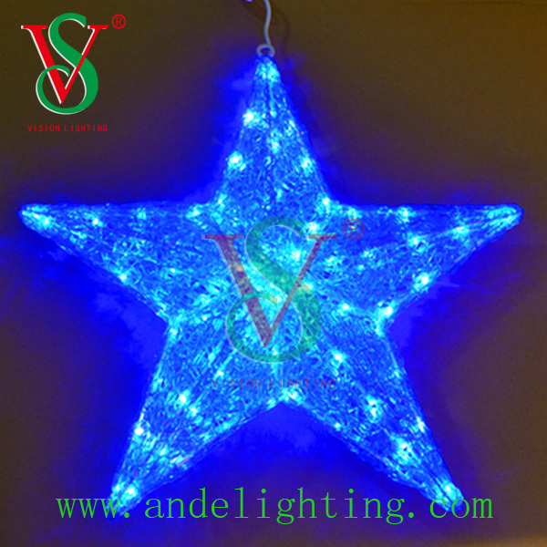 most popular products Holiday lighting 3D star motif LED light outdoor decoration