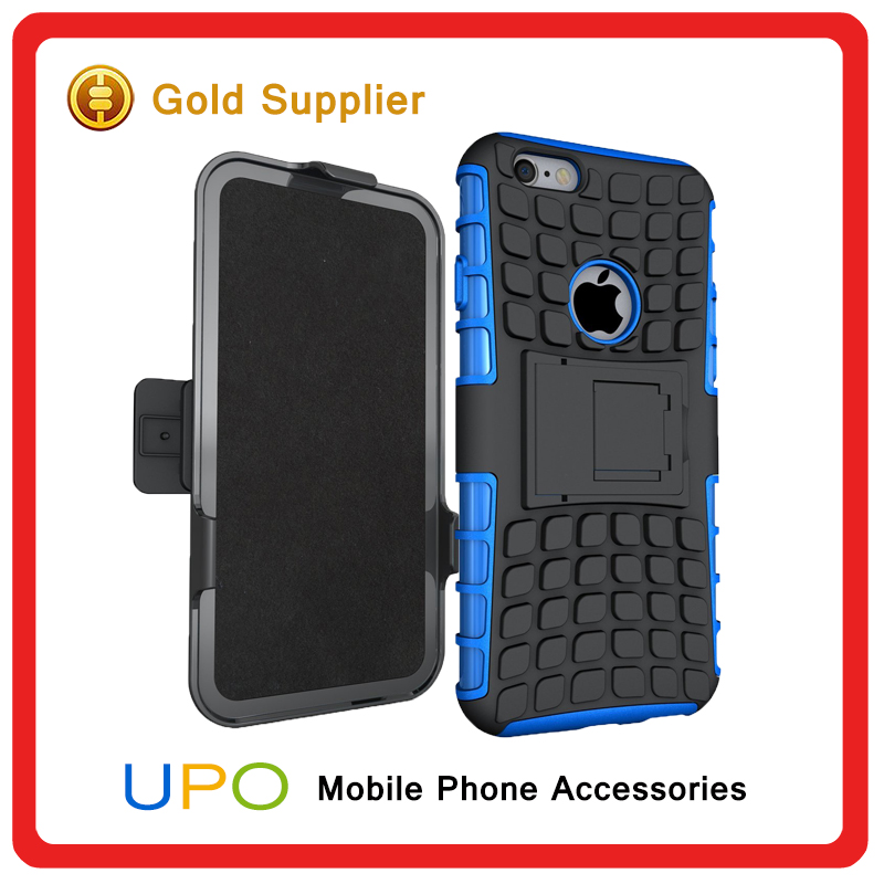 [UPO] Protective Rugged Impact Armor 2 in 1 Hard PC TPU Kickstand Hybrid Combo Cell Phone Case Phone Cover With Belt Clip