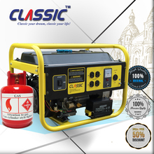 CLASSIC CHINA LPG Portable Generators, Easy Move With Tire Kit Power Generator, Natural Gas Powered Portable Generators Home Use