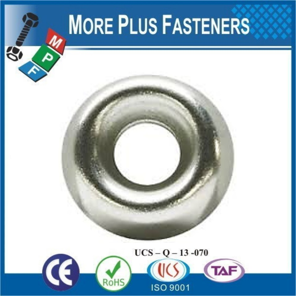 1//4 Nickel Plated Countersunk//Cup Finishing Washers The best fasteners 1000