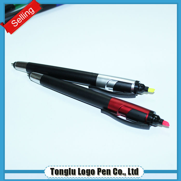 Logo customized advertising highlighter pen combo