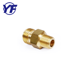 Custom Chrome Plated Male Thread Brass Pipe Extension Reducing Nipple Fittings for Gas Meter