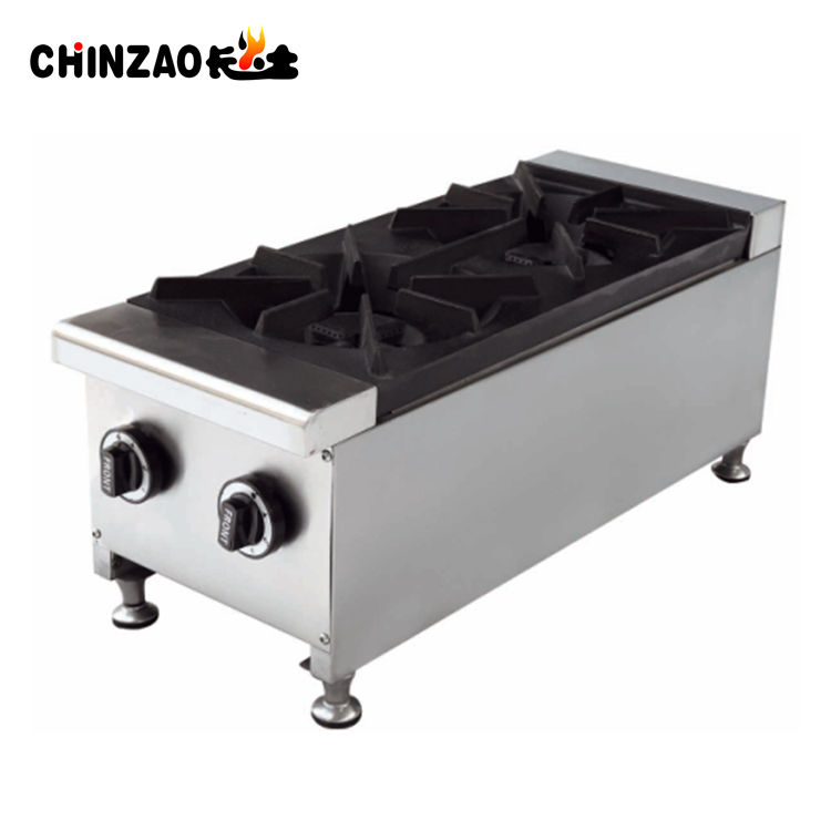 Gas Cooker Stove Family Restaurant Gas Cooktop 2 Burner Catering Equipments