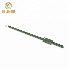 Factory Hot Sales promotion 5.5 ft white head metal T posts