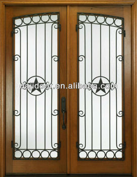 Lowes Exterior Wood Doors With Wrought Iron Dj-s9052w-2 ...