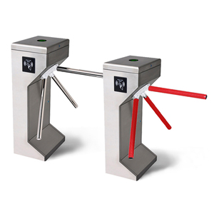 fast passing waist height tripod turnstile for security device