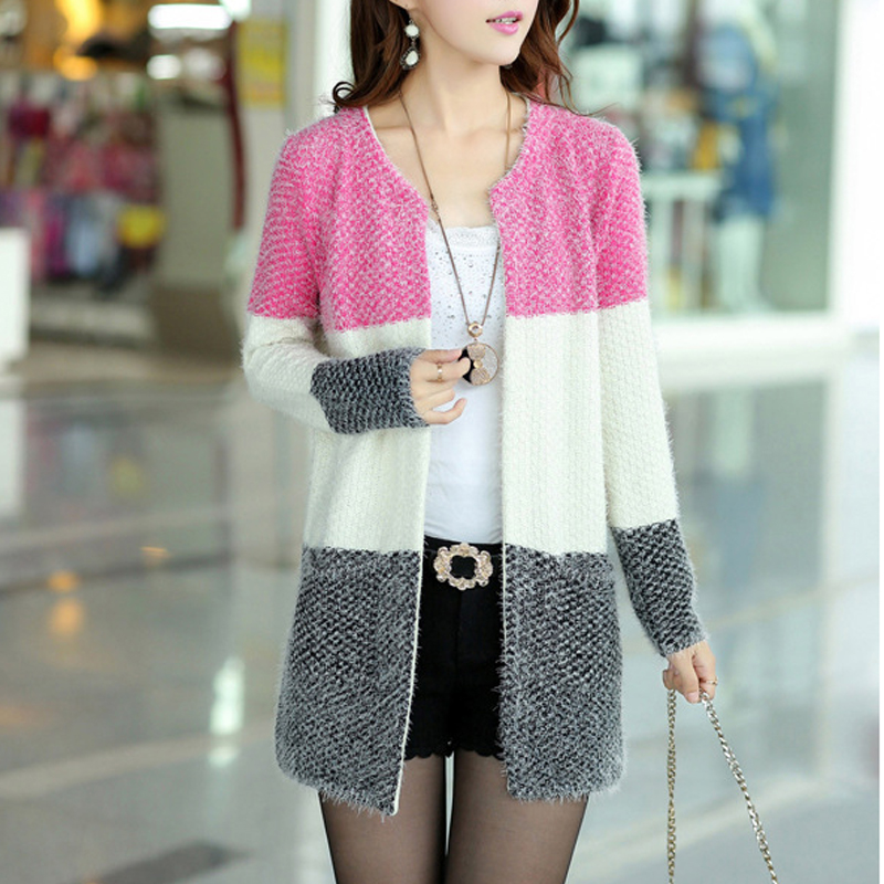 New Winter Spring Cardigans 2015 Women Fashion Mohair Cardigans Casual Tricotado Long Cardigan Women Sweaters For