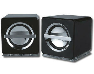 Amplified Mini Cube PC Stereo Speakers USB Powered