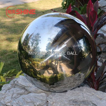 outdoor large stainless steel sphere for garden landscape sculpture
