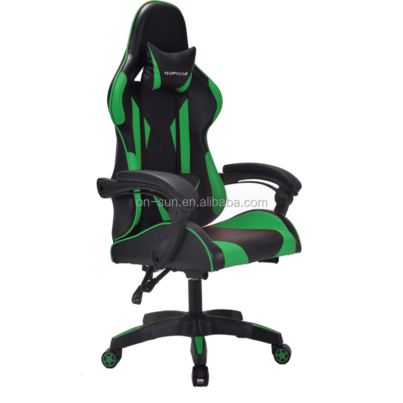 Fashion and cool adult gamer silla chair reclining chair with cold foam gaming chair