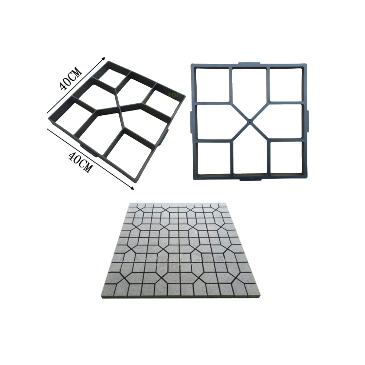Compression courtyard brick DIY concrete mold with plastic