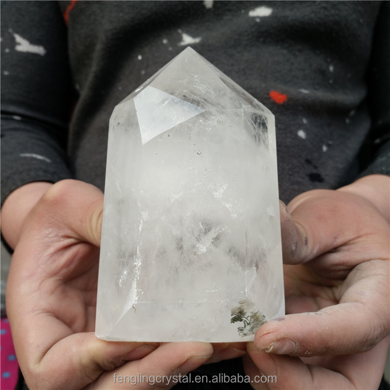 Wholesale Natural ornament rock Quartz Clear icelike translucent Crystal Point Wand