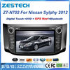 ZESTECH Wholesale touch screen gps oem Car headunit FOR Nissan sylphy 2012 2013