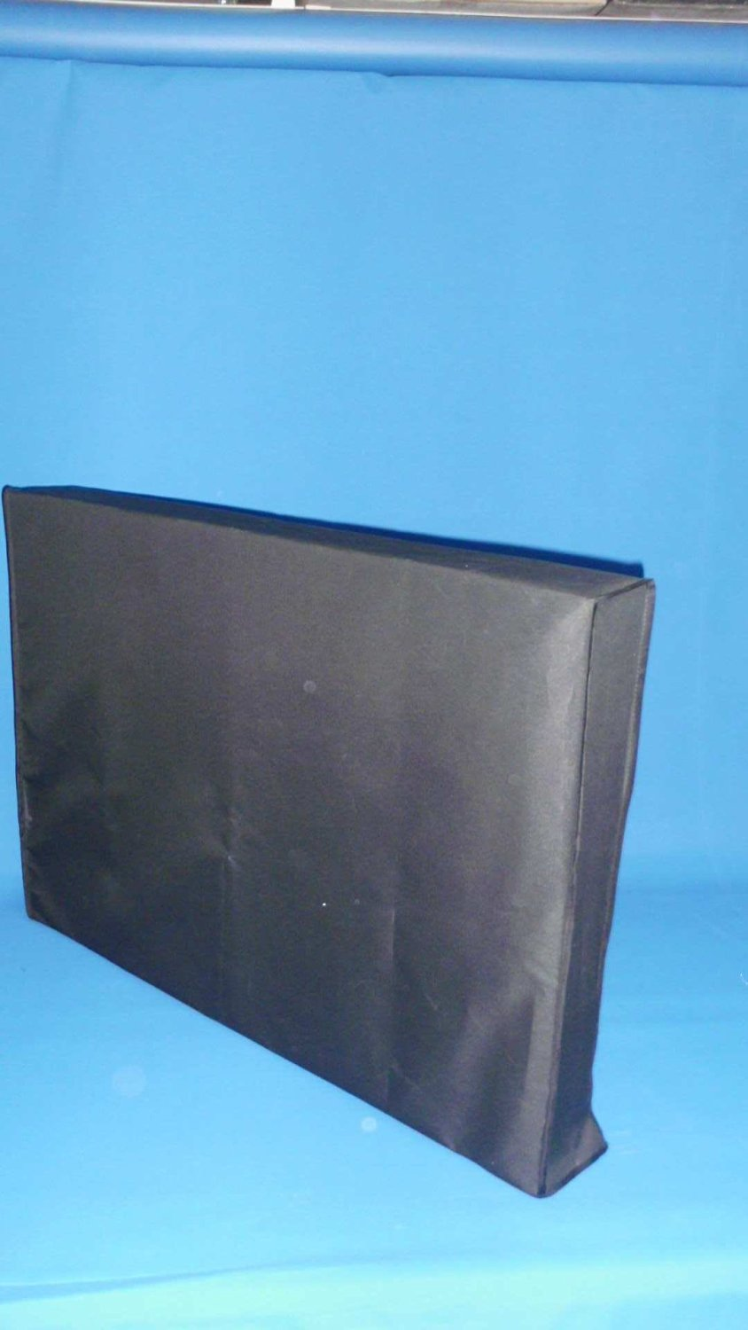 """Large Flat Screen Tv's 37"""" Marine Grade Black Nylon Dust Covers Ideal for Outdoor Locations."""