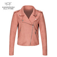 Woman fashion suede jackets ladies fashion coats