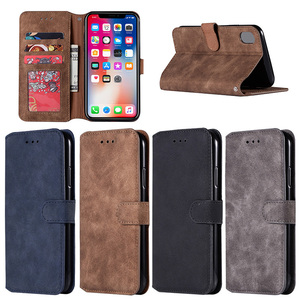 New Arrival Retro Design Leather Folio Mobile Phone Case for iPhone XR 6.1 inch