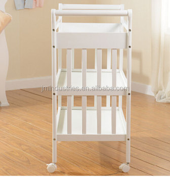 Adult diaper changing table, cock up trouser leg