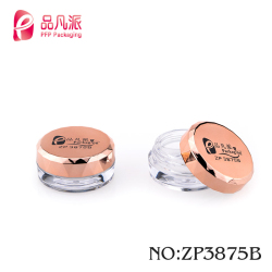 Round eyebrow refill cosmetic packaging clear cream plastic jar with custom printed
