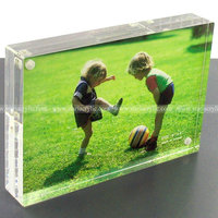 Magnetic Acrylic Frame 4x6, Acrylic Magnetic Photo Block, Magnet Connecting Acrylic Photo Frame