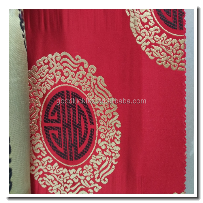 100% polyester Roll Packing complete in specifications jacquard brocade fabric