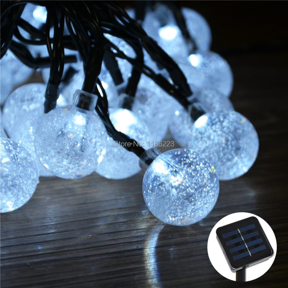 Solar Powered Patio Lights String Image