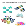 Chew Beads Jewelry Silicone Teething Necklace bead/DIY Silicone Teething loose Beads