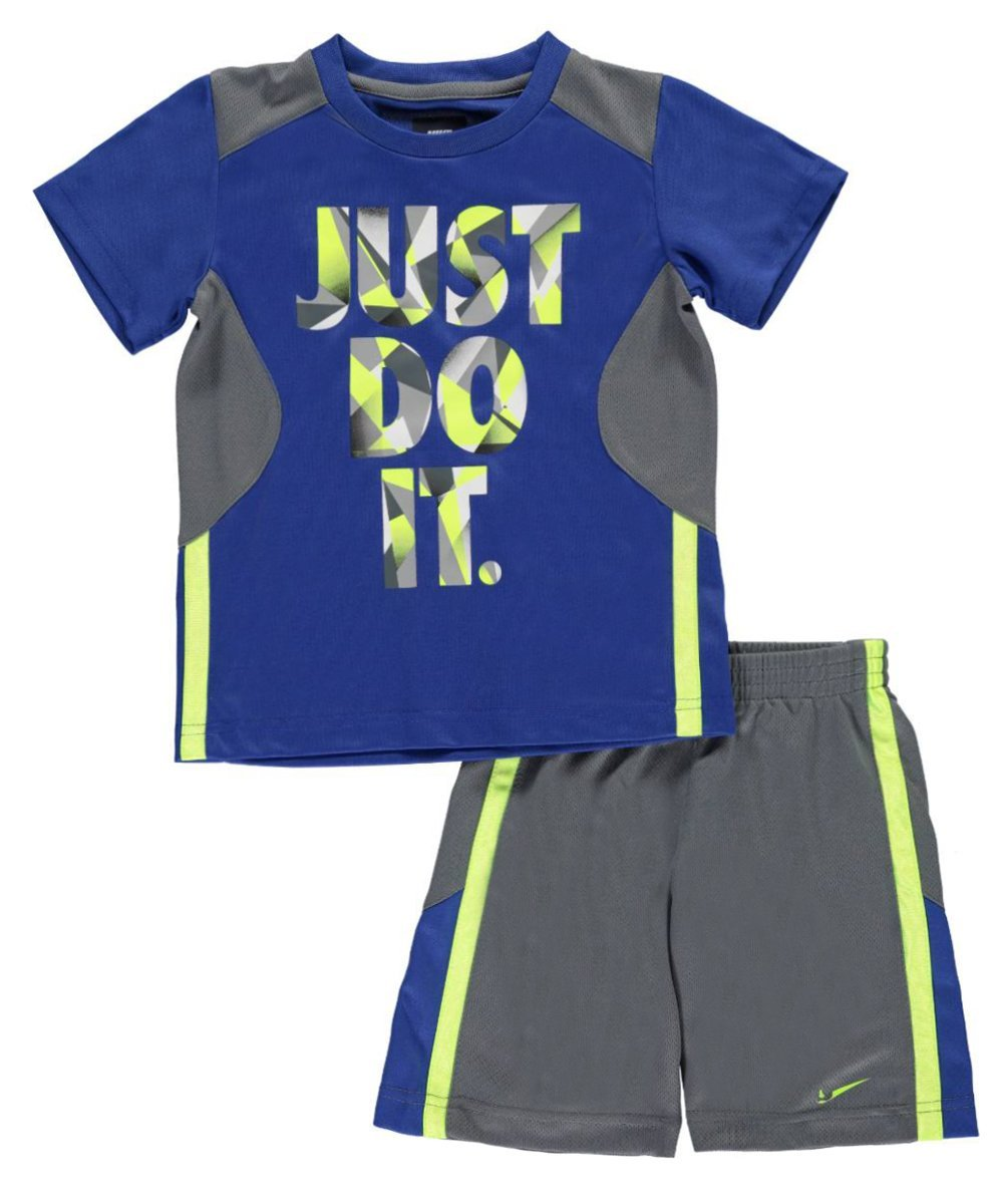 Nike Little Boys' 2-Piece Outfit (Sizes 4 - 7) - gray, 4
