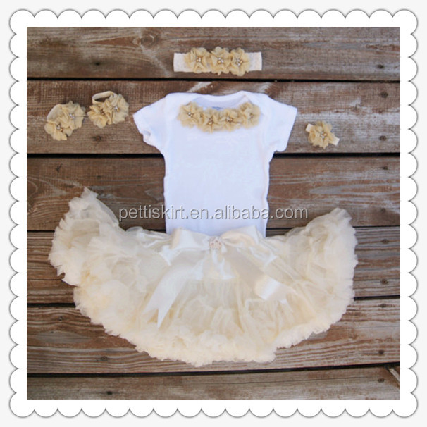Baby Girls First Birthday Outfit Boutique Bulk Wholesale Kids Trendy Tutu Skirt/dress Clothing Set