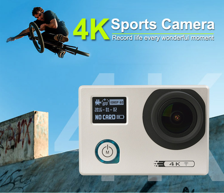 New release 2 inch waterpfoof 4k hd action camera be unique