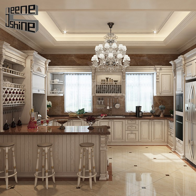 China factory wholesale waterproof cheap white solid wood for Chinese kitchen cabinets wholesale