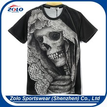 Professional custom men sublimation printing most popular t shirt colors