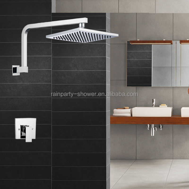 Square Wall Mounted Goose neck style Swivel Brass shower arm A618