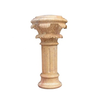 House decor sculpture stone carving natural marble column pillar