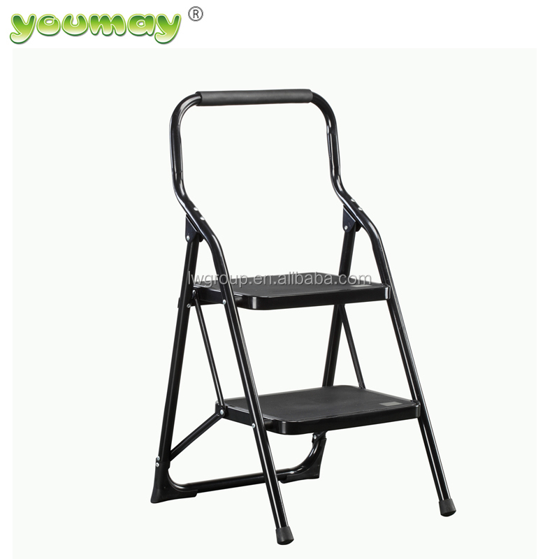 EN14183 adjustable steel step foldable ladder SF0302A