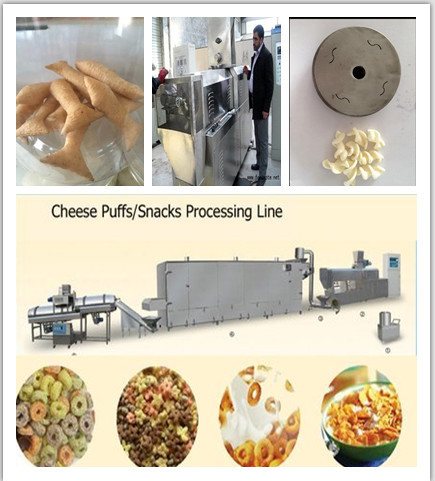 Corn puff snack food extruder for sale