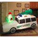 Balcony ornament xmas hat green monster christmas tree white inflatable toy car