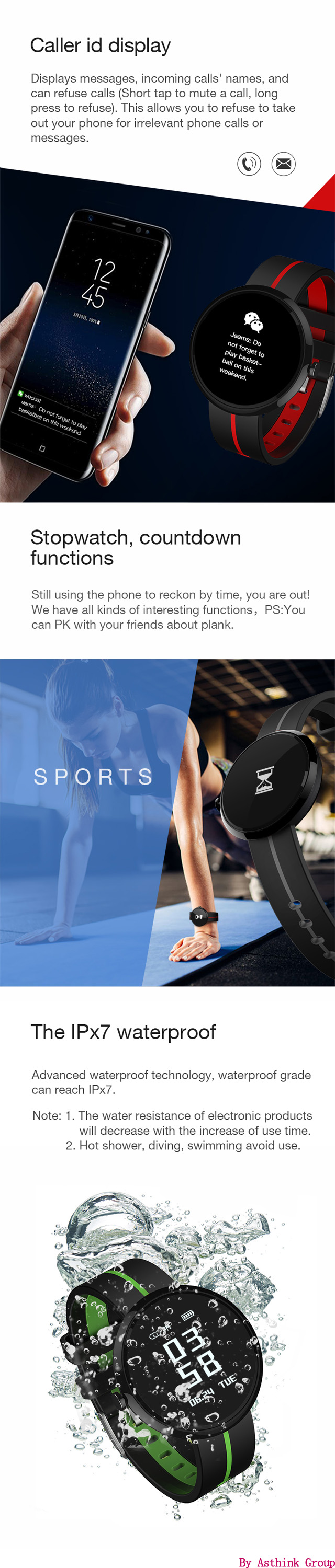 2018 new arrivals product blood pressure and heart rate fitness activity tracker watch V06S smart sport bracelet
